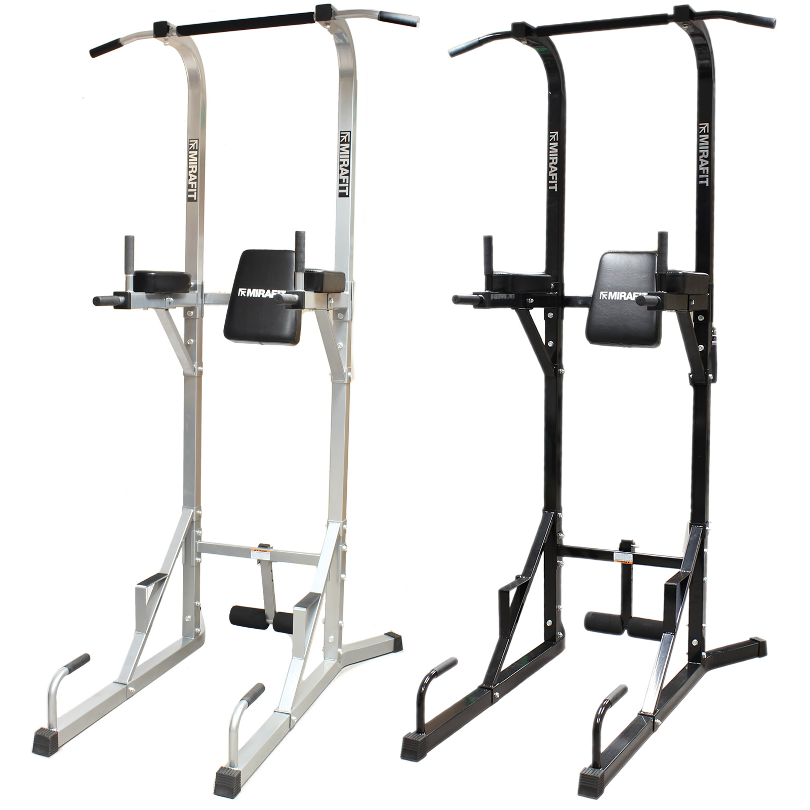 Station A Dips: MIRAFIT VKR Gym Power Tower Knee/Leg Raise Ab/Core Pull