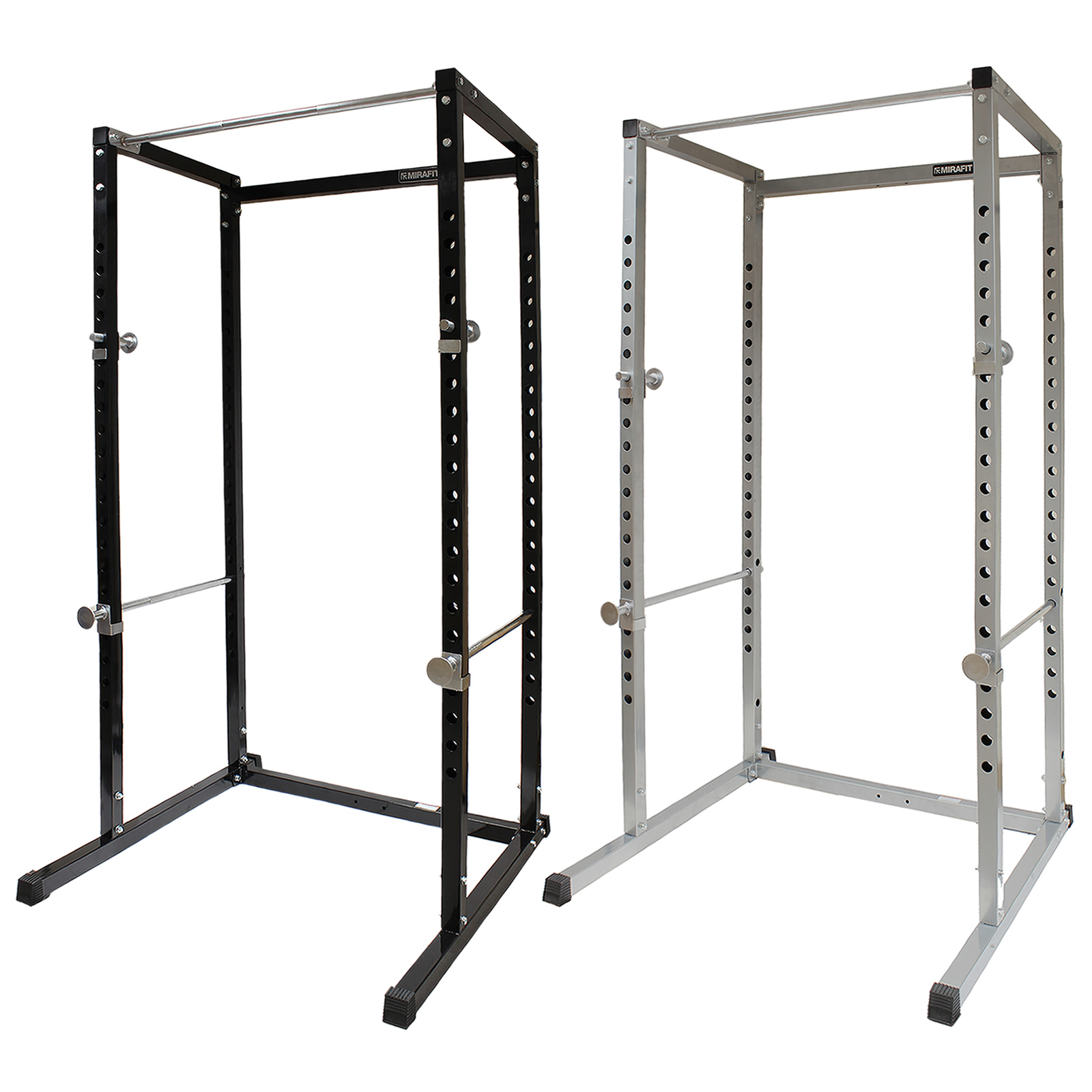 mirafit power cage squat rack pull up bar multi gym. Black Bedroom Furniture Sets. Home Design Ideas
