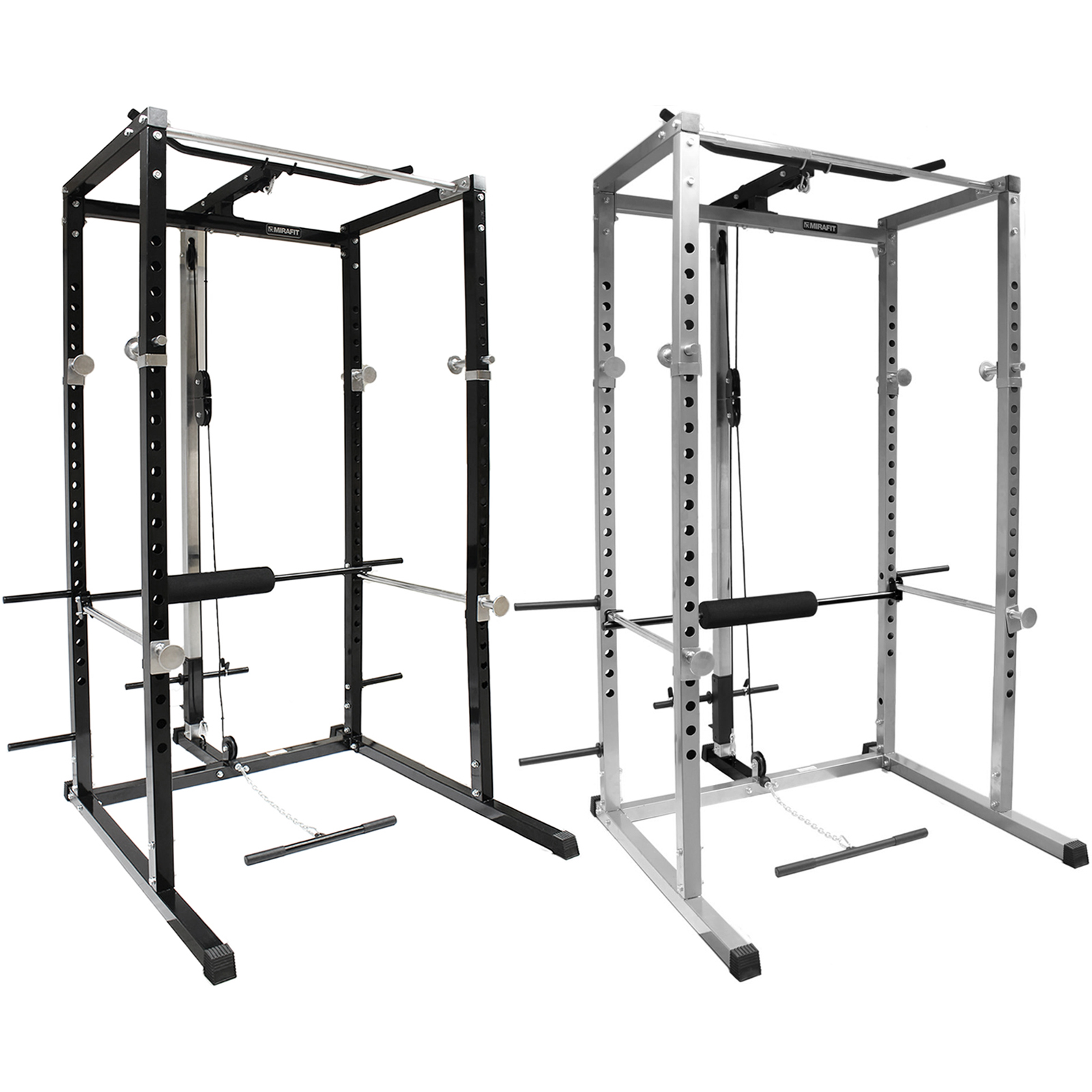 Bench Presses Vs Lat Pull Downs: MIRAFIT Power Rack Squat Cage & Cable Lat Pull Up/Down/Row