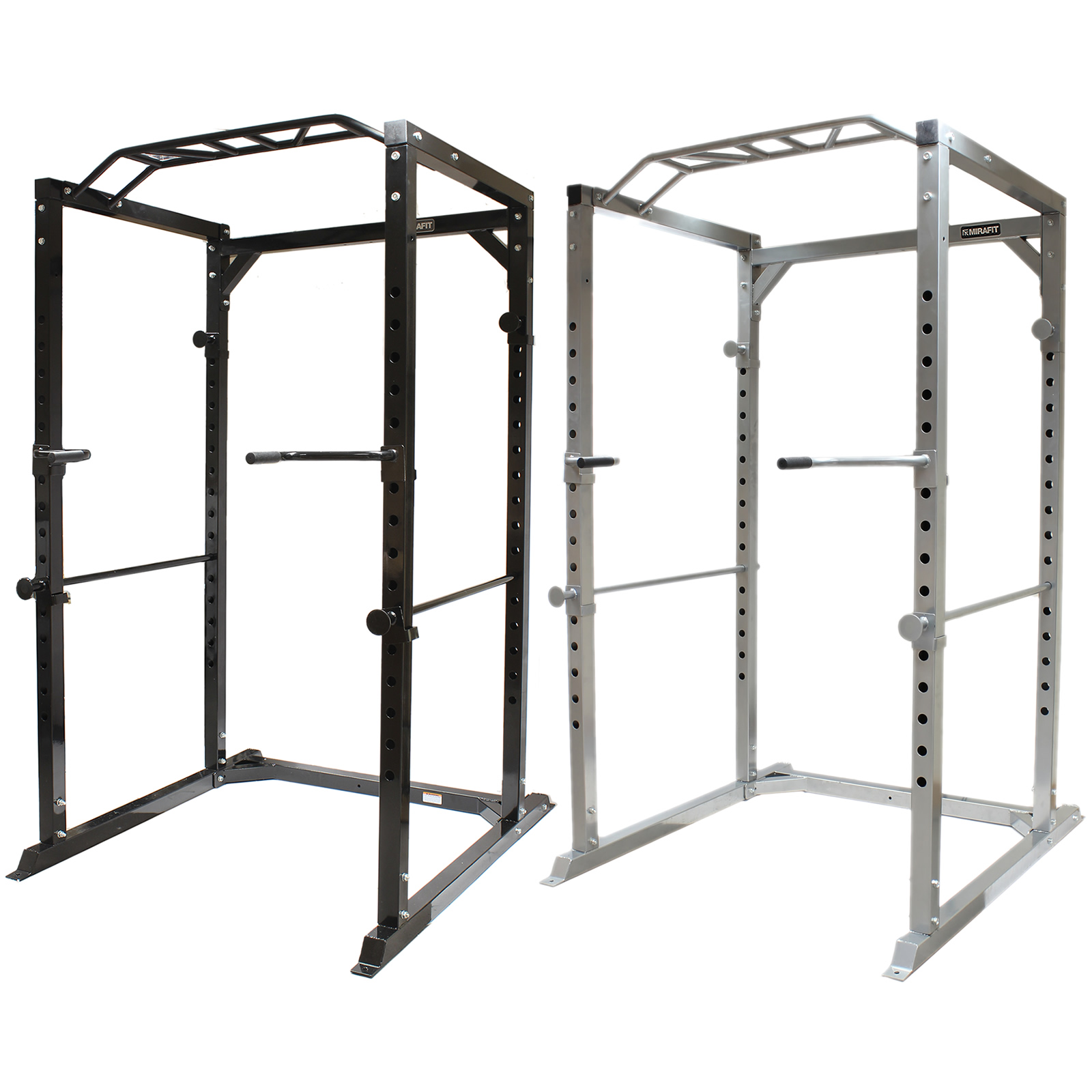 mirafit 350kg heavy duty olympic full power cage rack. Black Bedroom Furniture Sets. Home Design Ideas