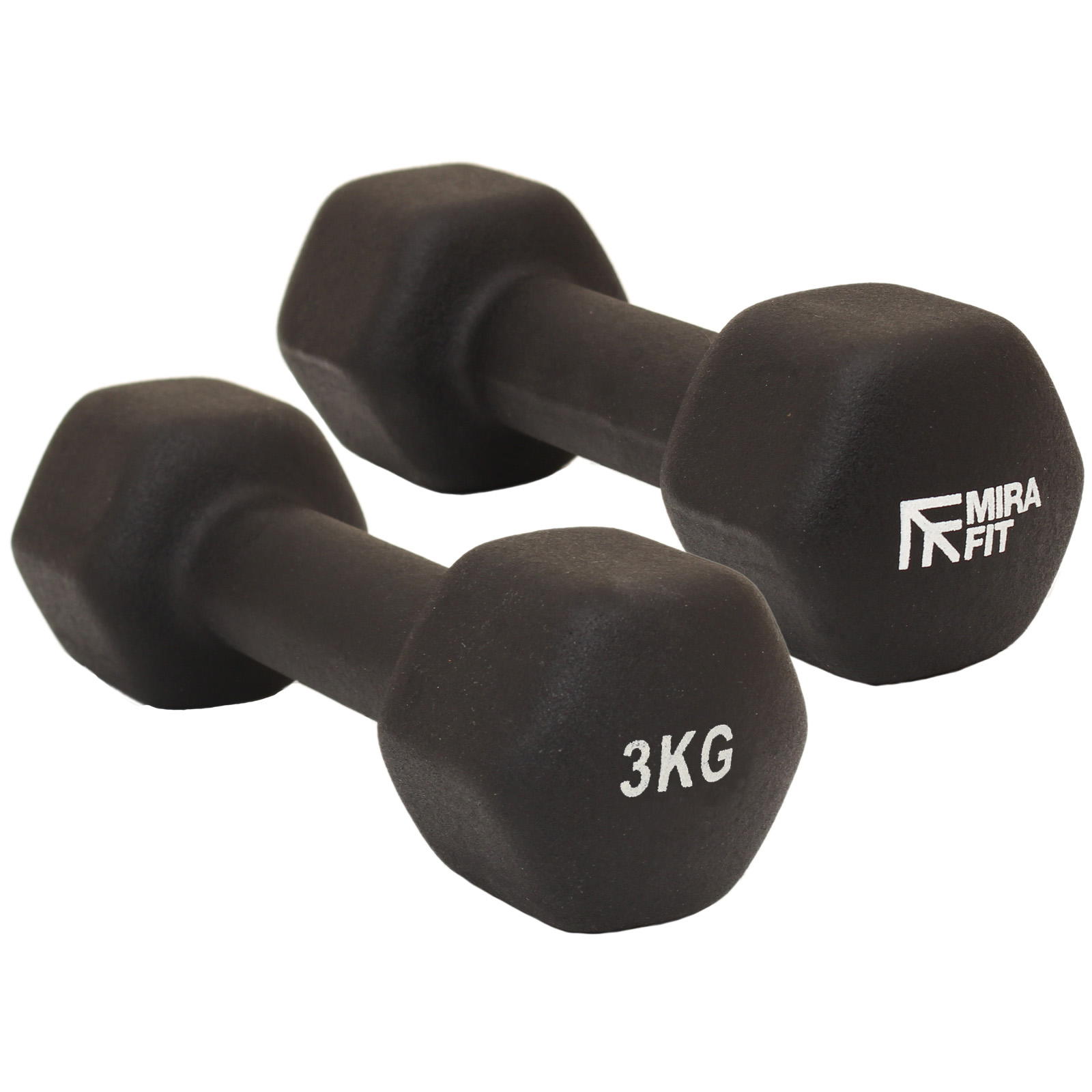 Mirafit Hex Dumbbells Weights Aerobic Gym Exercise