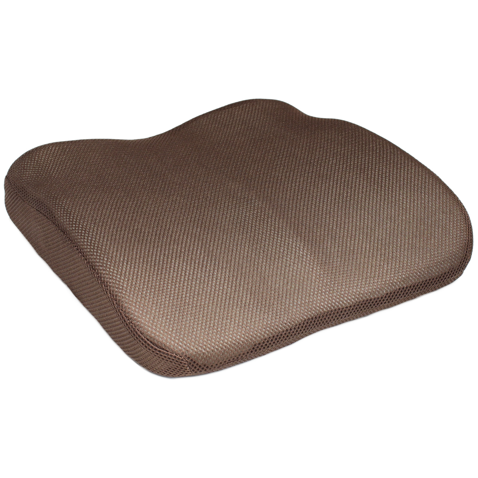 brown mesh memory foam car van lower back seat base cushion lumbar support wedge ebay. Black Bedroom Furniture Sets. Home Design Ideas