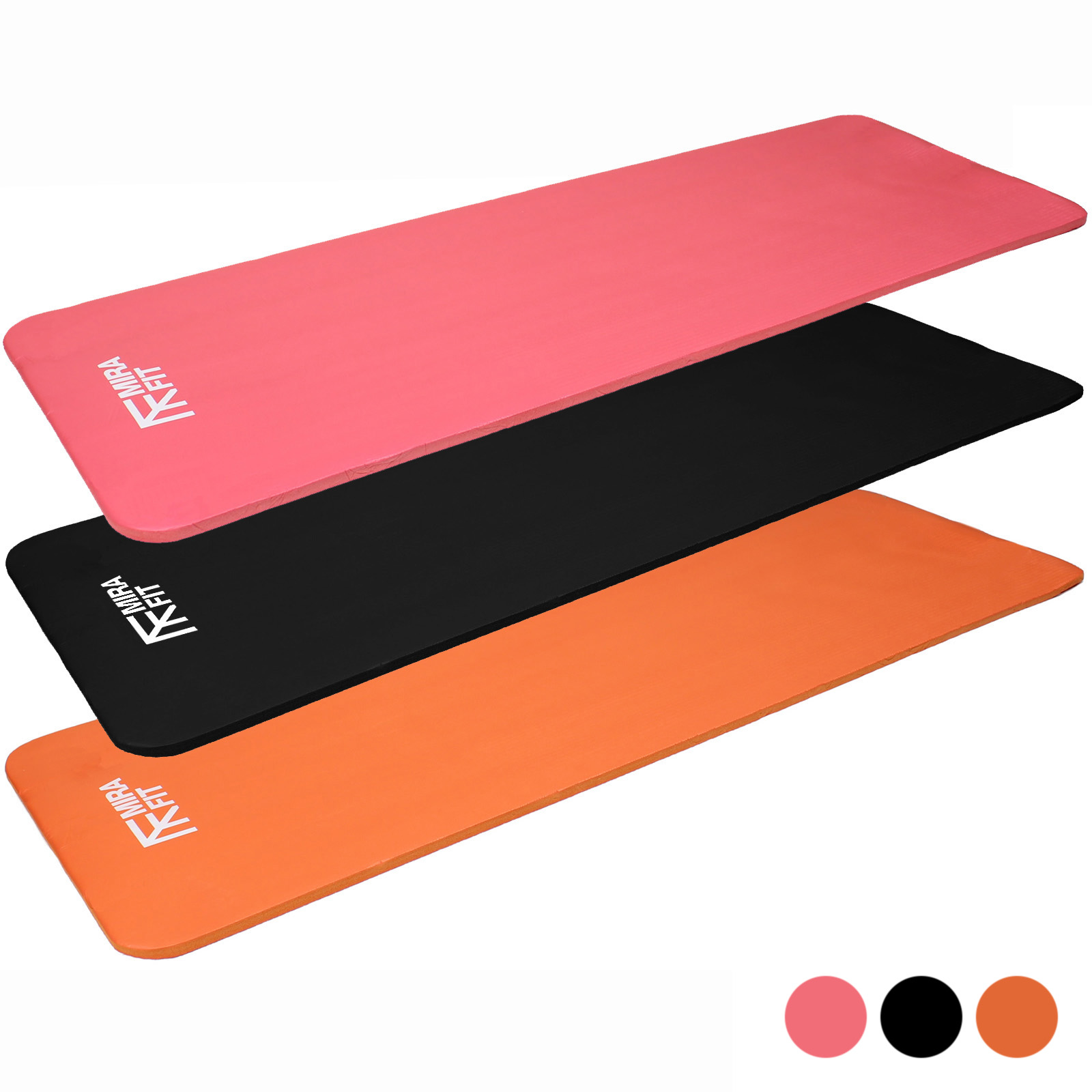 MIRAFIT 15mm Yoga/Fitness Exercise/Workout Floor Mat Gym