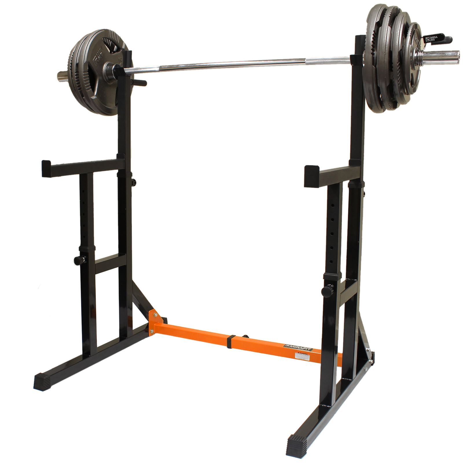 Mirafit Adjustable Squat Rack Dip Stand Barbell Weight Gym Bench Power Lifting Ebay