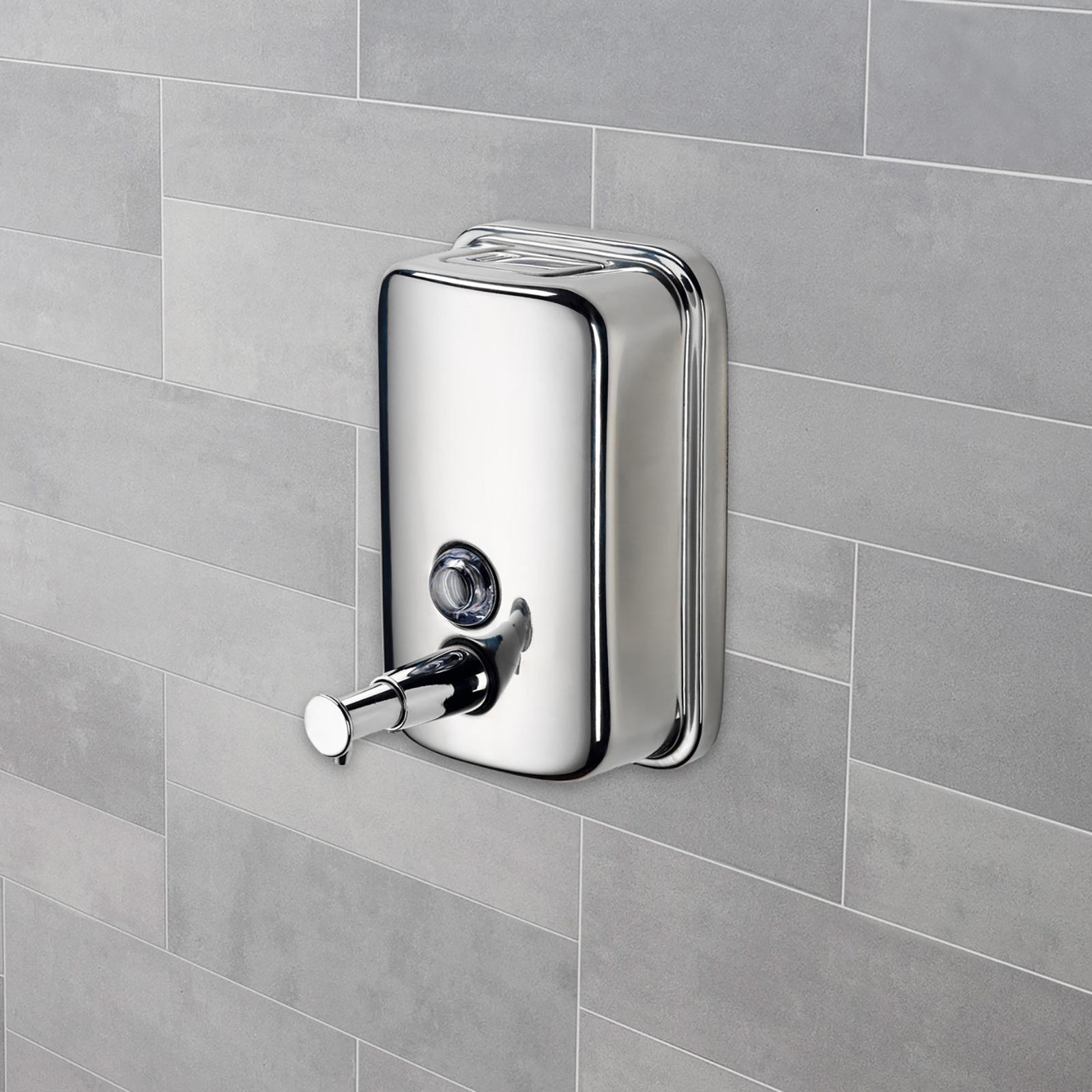 Hartleys Chrome Bathroom Toilet Shower Wall Soap Shampoo Gel Hand Dispenser Pump Ebay