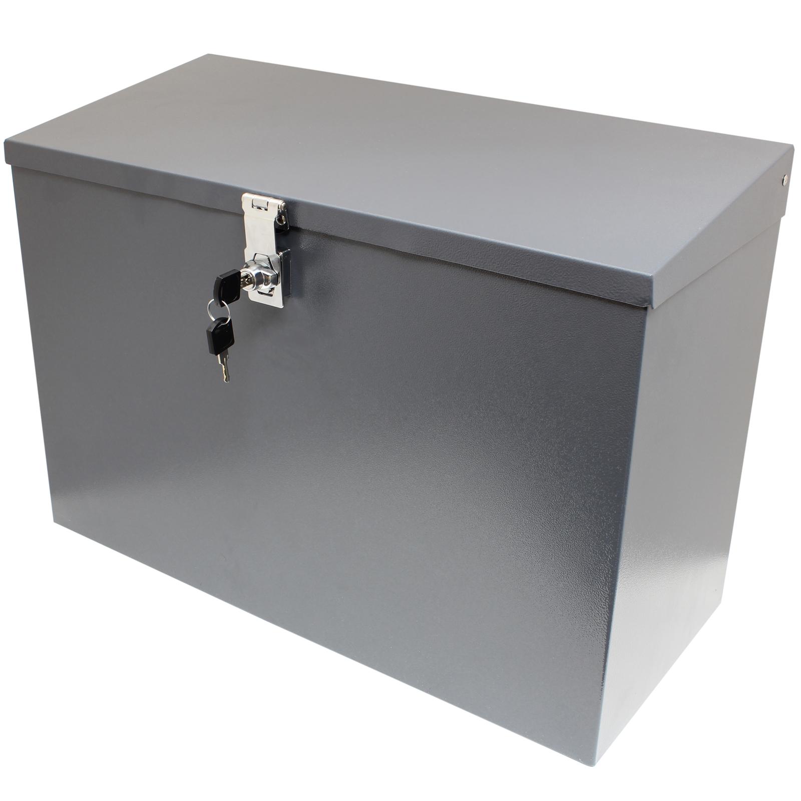 Hardcastle Large Grey Lockable Letterbox Parcel Box Home