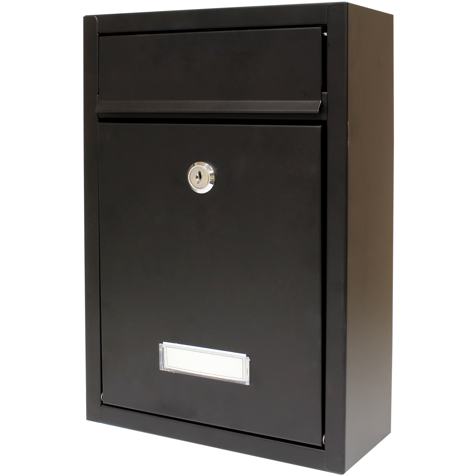 hardcastle lockable black wall mounted letter mail box With wall mounted letter box
