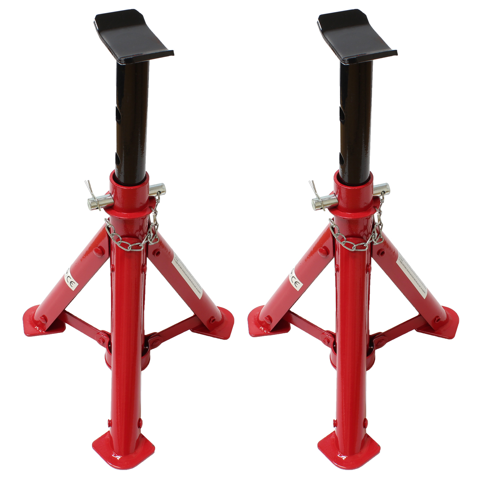 Heavy Duty Red 2 Ton/2T Folding Car/Garage Axle/Jack