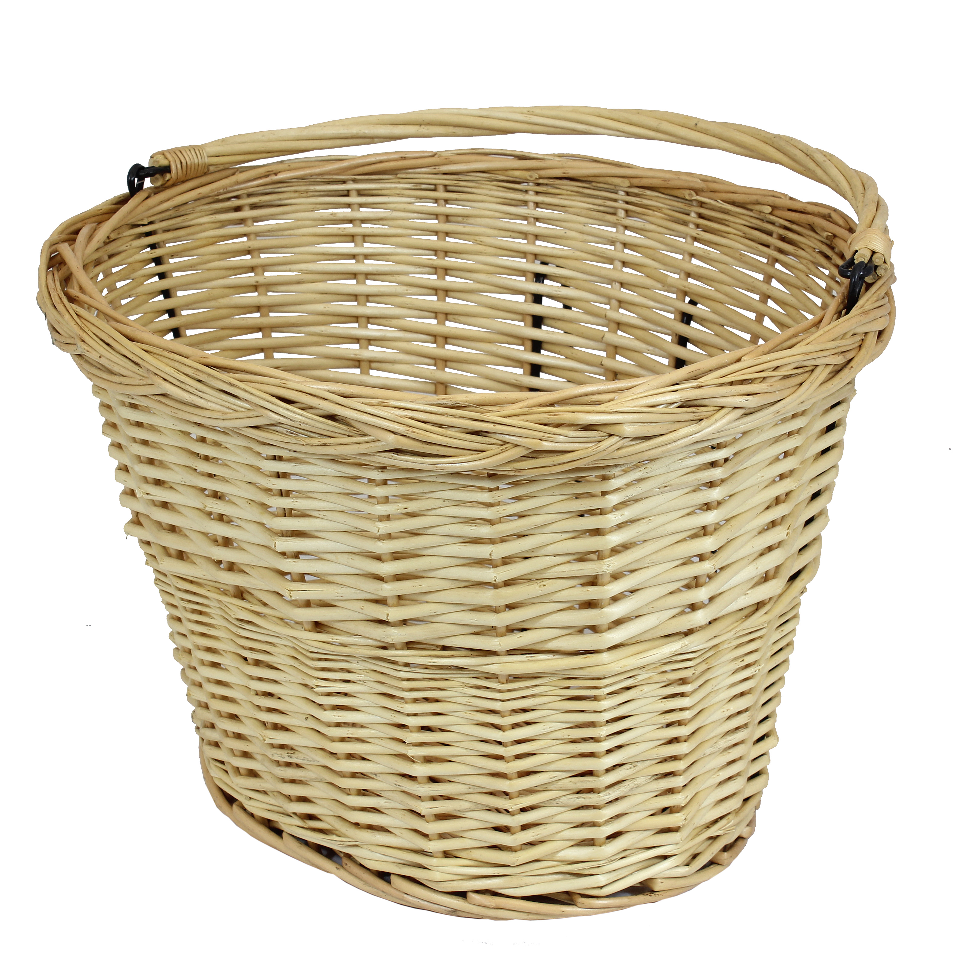 Wicker Bicycle Basket With Handle : Bicycle wicker basket handle cycle bike classic ping