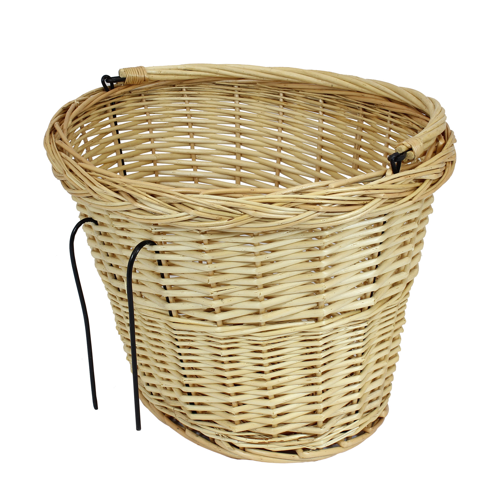 Wicker Bike Basket With Handle : Bicycle wicker basket handle cycle bike classic ping