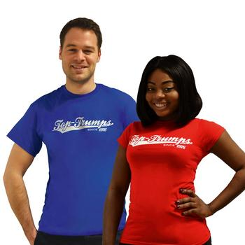 View Item Top Trumps T-Shirt - Classic Red or Blue