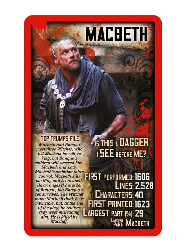 shakespeares macbeth as a play in the horror genre Many actors will not mention the name of the play aloud,  genre: tragedy keywords  william shakespeare, the tragedy of macbeth, li2go edition,.