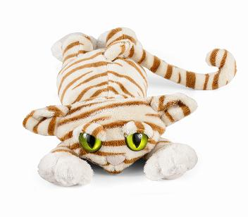 New Lanky Cat White Tiger Plush Soft Toy by Manhattan Toy Size 37 cm Enlarged Preview