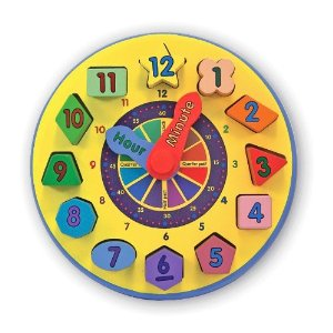 New Wooden Shape Sorting Clock Educational Aid Toy by Melissa & Doug Enlarged Preview