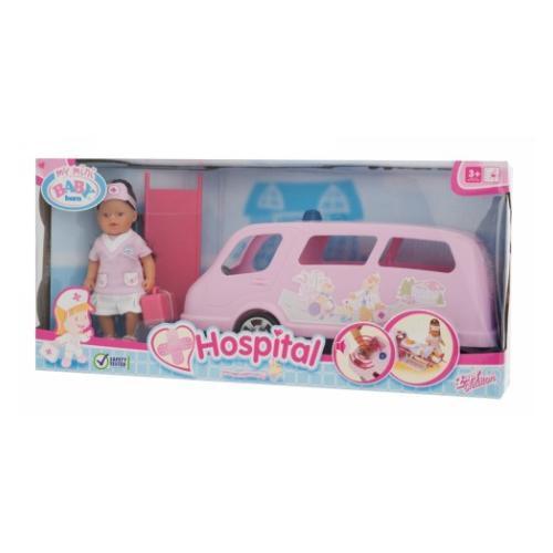 New My Mini Baby Born Ambulance Car With Doll Toy By Zapf