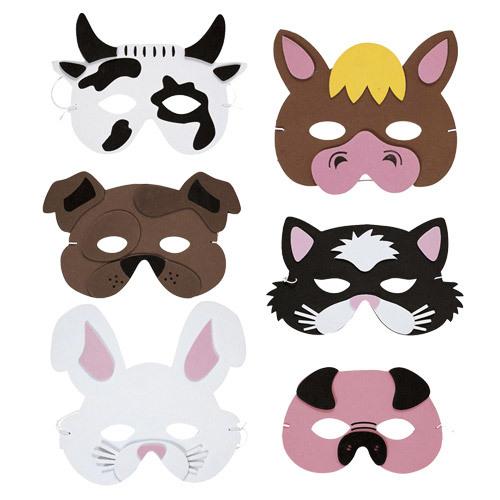 Pics Photos - Foam Animal Mask Farm Animal