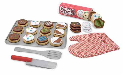 New Wooden Slice & Bake Cookie Set Play Food Toy by Melissa & Doug Enlarged Preview