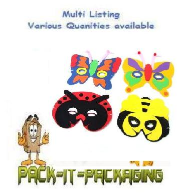 NEW INSECT EVA FOAM MASKS PARTY BAG TOY FILLER,DRESS UP OR FANCY DRESS  4 DESIGN