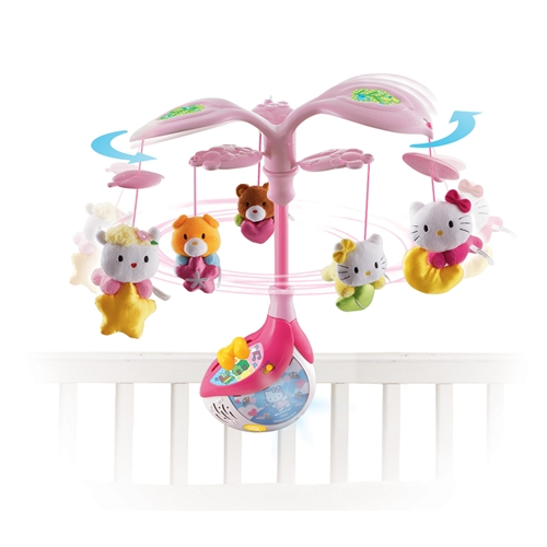 New Hello Kitty Melody Mobile Interactive Cot Baby Toy by VTech Enlarged Preview