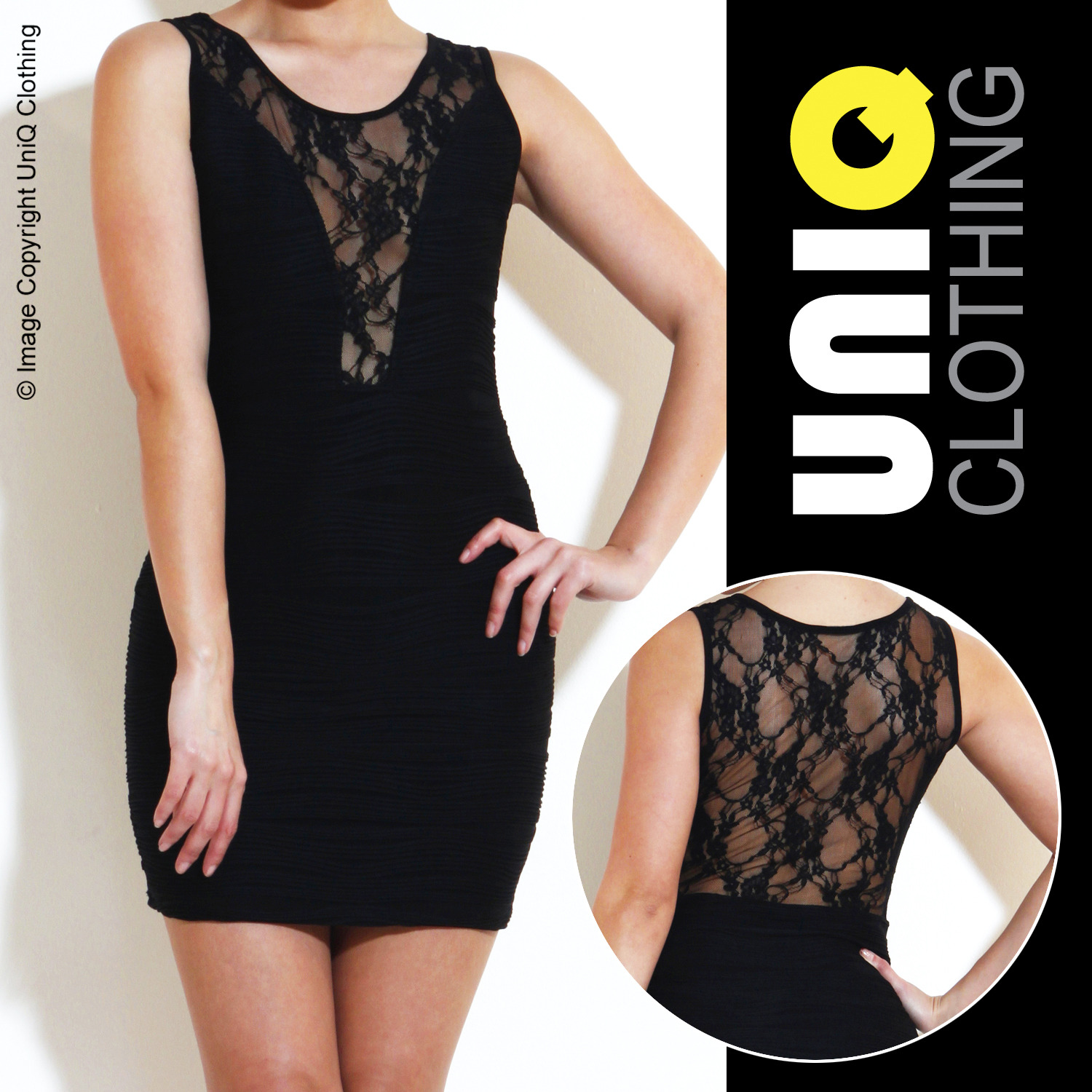 UNIQ-UK Womens DRESS Mini/Evening/Party/Short/Designer/Cocktail L69 Enlarged Preview