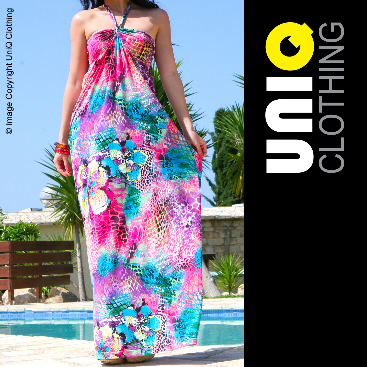 UNIQ-UK Womens/Ladies MAXI DRESS Long/Boho/Summer/Evening/Bridesmaid P268-J Enlarged Preview