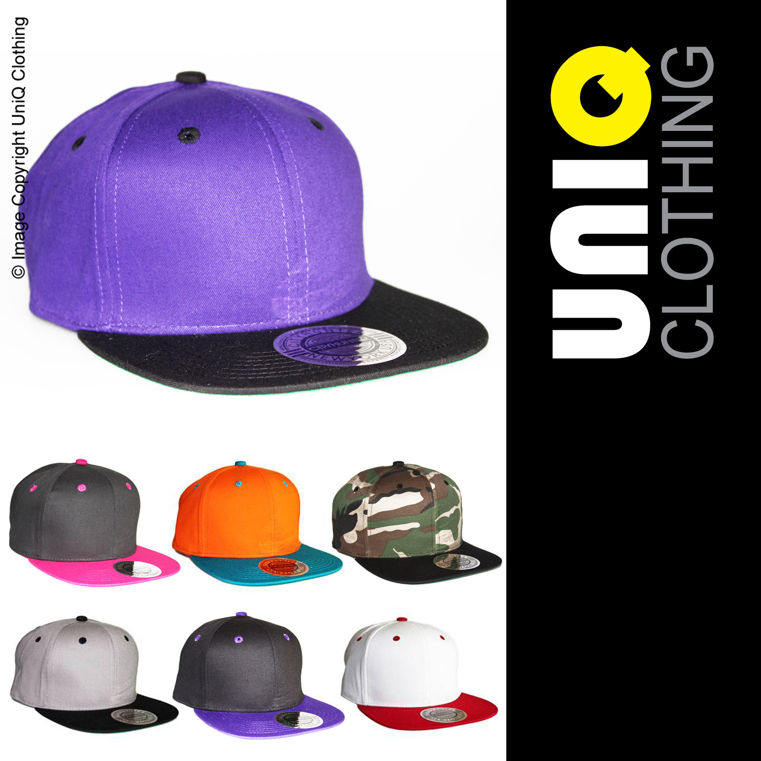 UNIQ-UK Mens/Womens CAP/HAT Adjustable Size/Snap Back/Baseball/Retro L5 Enlarged Preview