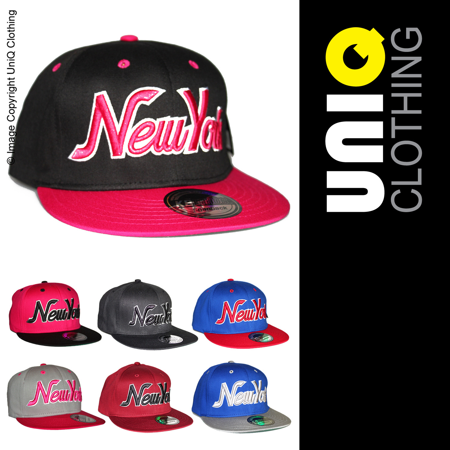 UNIQ-UK Mens/Womens CAP/HAT Adjustable Size/Snap Back/Baseball/Retro L1 Enlarged Preview