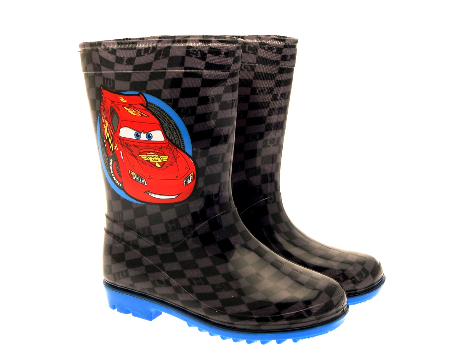 Kids Boys Disney Cars Lightning McQueen Wellies Rain Snow Winter Boots Size 5-12