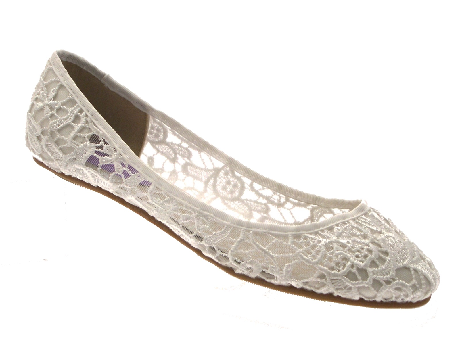 37306beeb07 Womens Ivory Lace Ballet Pumps Flat Bridal Bridesmaid Shoes Ladies ...