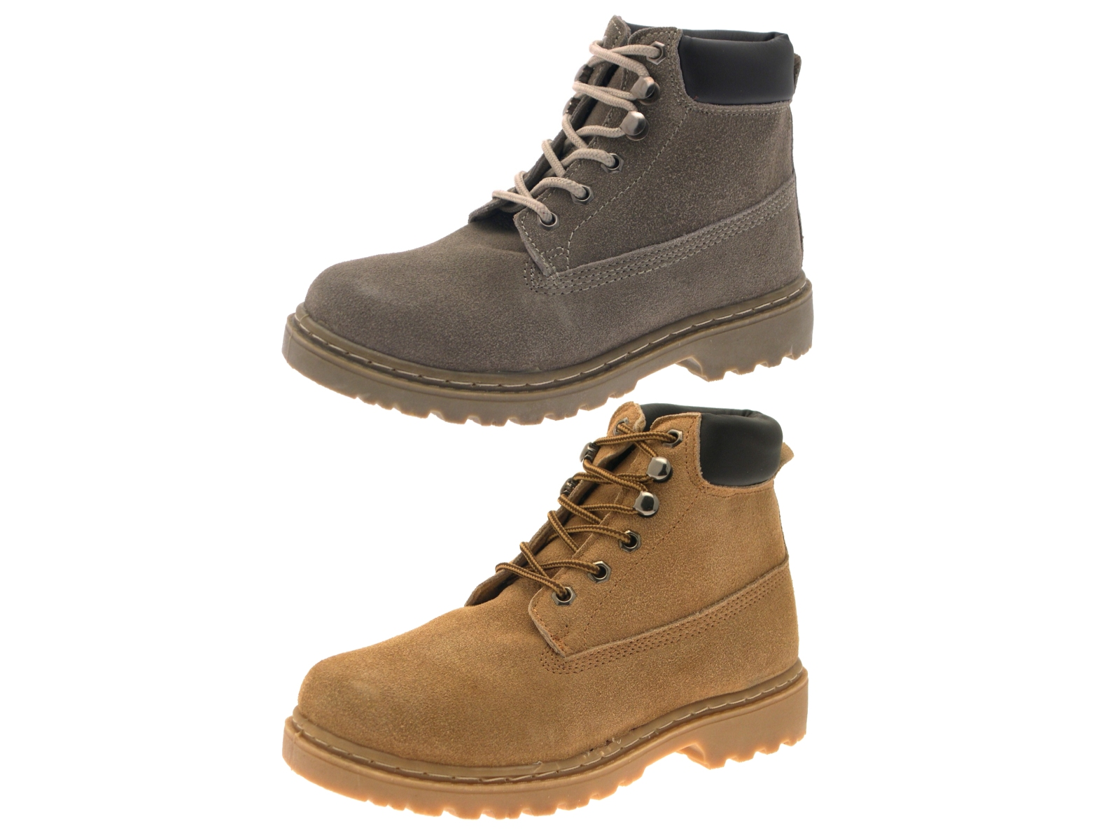 boys kids mens desert ankle boots lace up faux suede casual shoes size uk 13 6 ebay. Black Bedroom Furniture Sets. Home Design Ideas