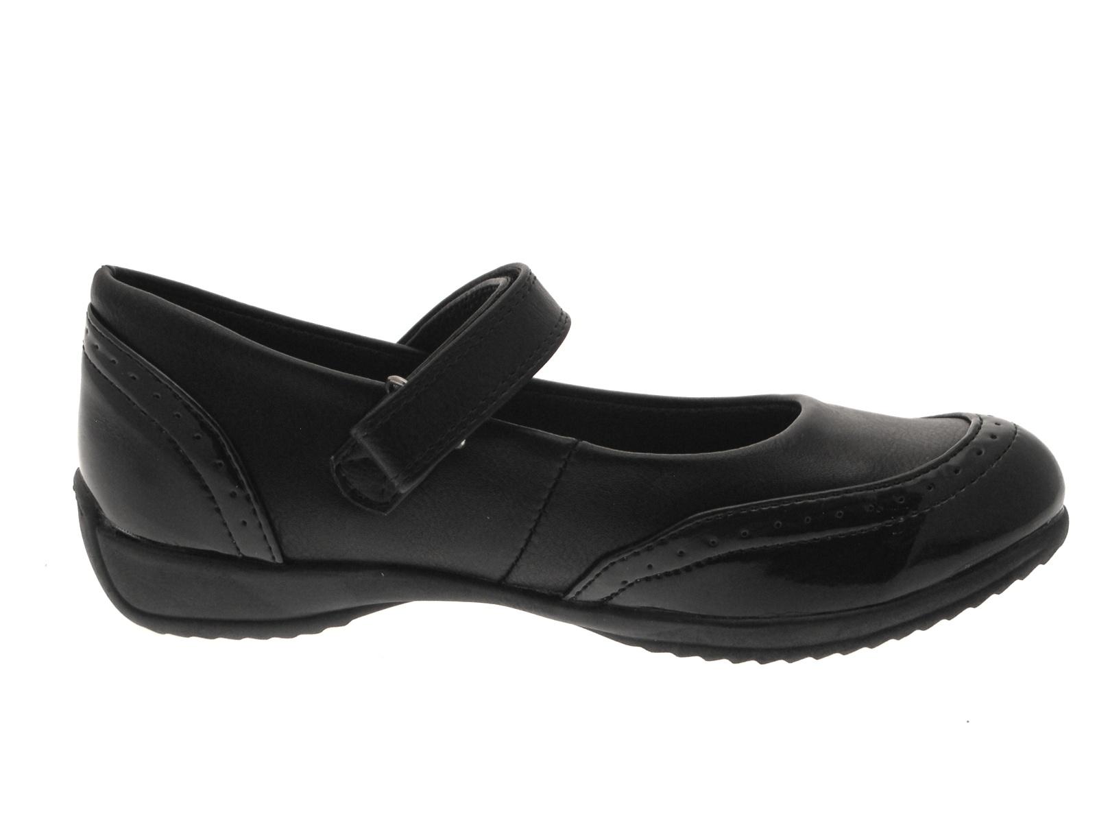 Girls Womens Kids Black Mary Jane School Work Shoes Brogues Junior Size UK 10-5 | EBay