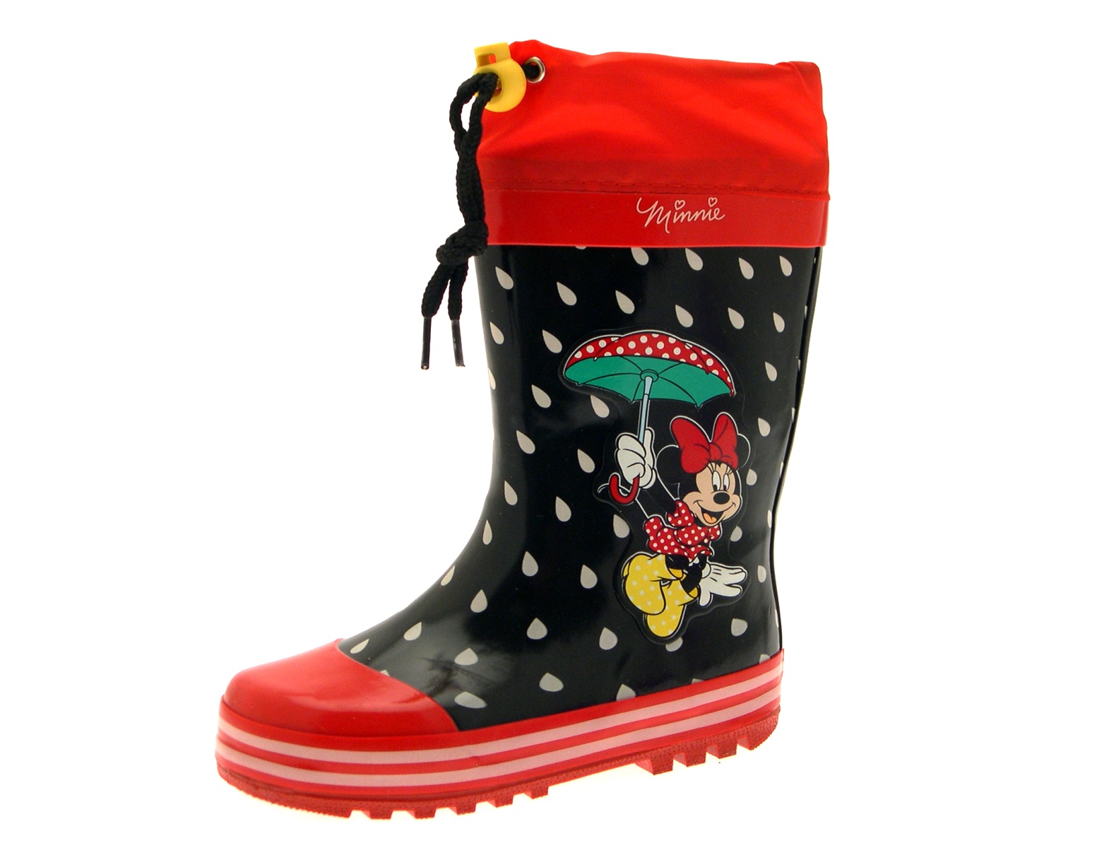 Girls Disney Minnie Mouse Rubber Snow Boots Wellies Wellingtons Size UK 10 - 2.5