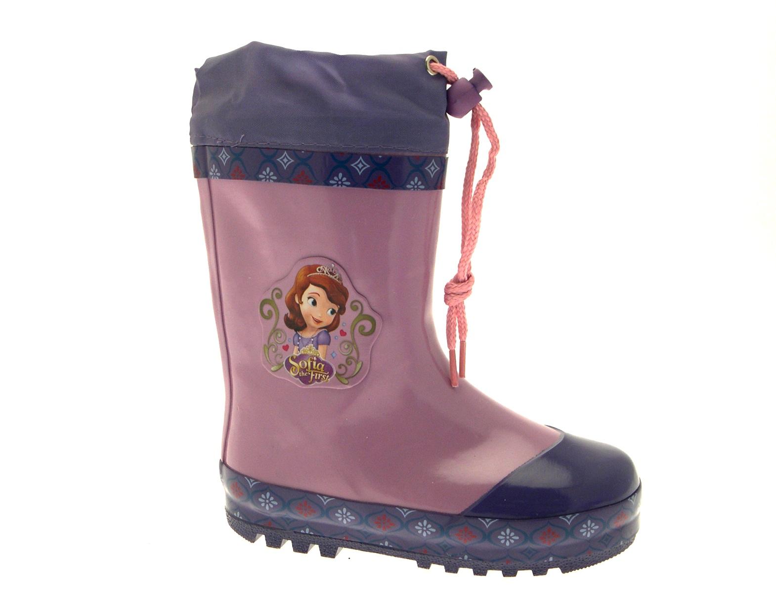 Princess Sofia Rubber Snow Boots Girls Disney Wellingtons