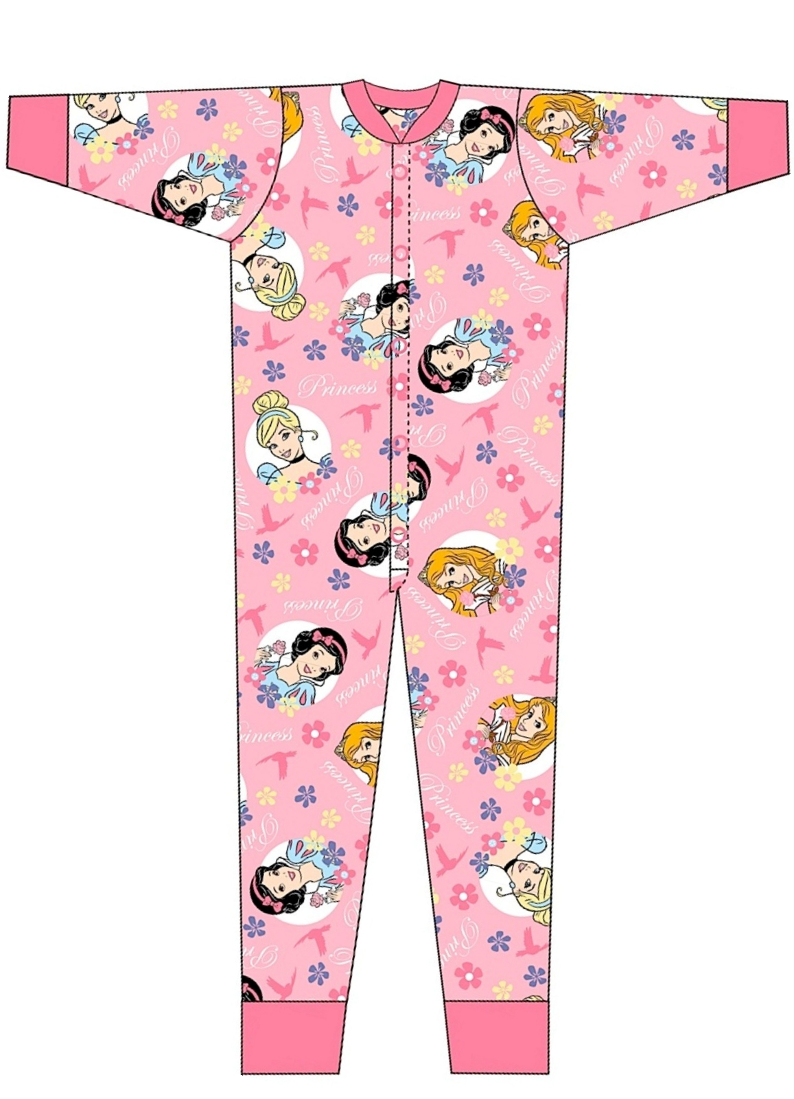 Kids Boys Girls 100% Cotton Character Onesies Pyjamas Pjs Sleep ...
