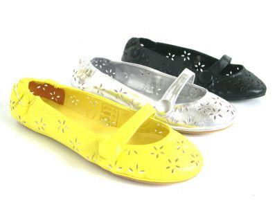 CUTE FLOWER BALLET PUMPS SHOES FLAT SILVER LADIES SIZ 5