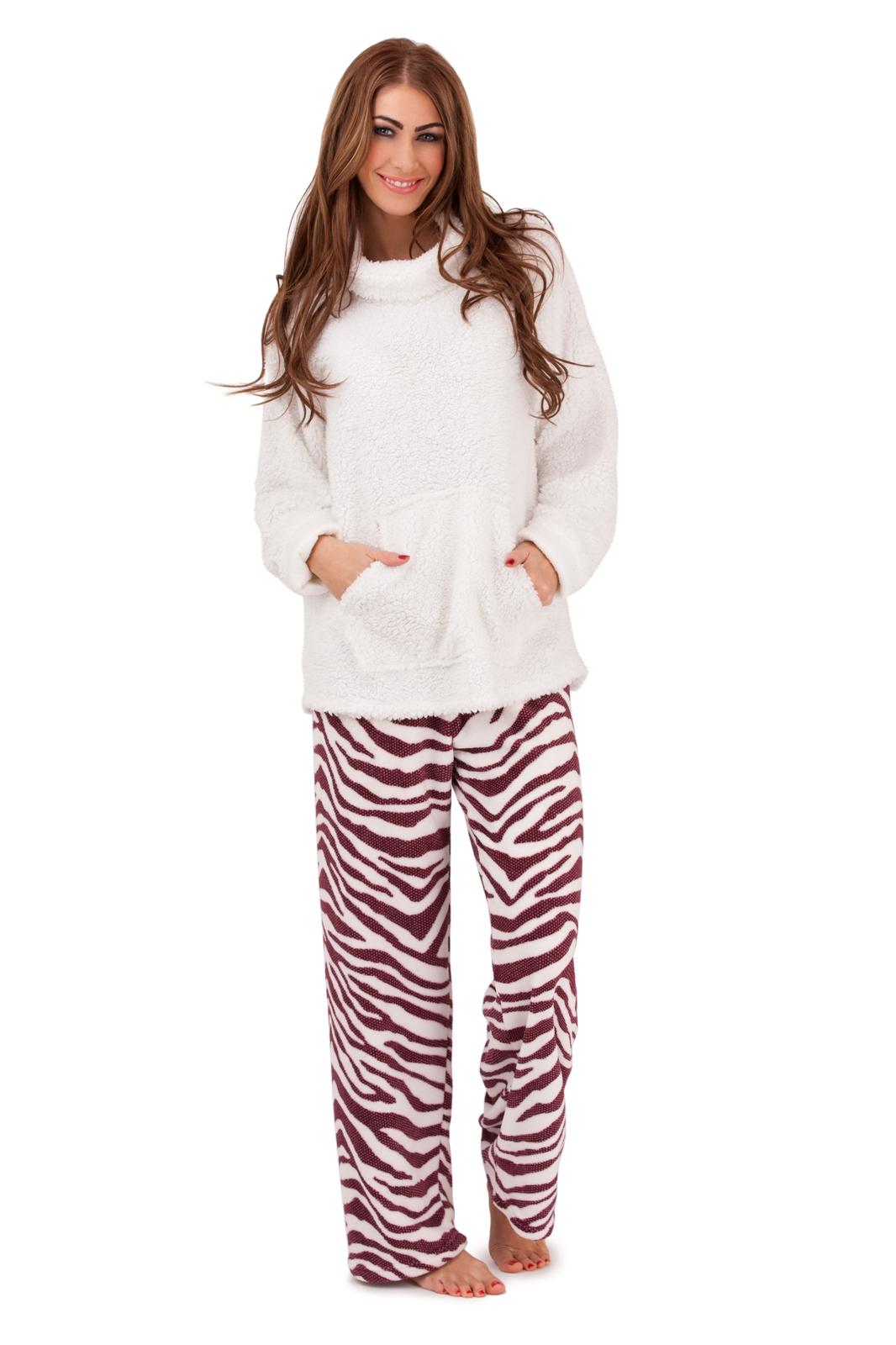 ensemble pyjama pantalon haut polaire femme ebay. Black Bedroom Furniture Sets. Home Design Ideas