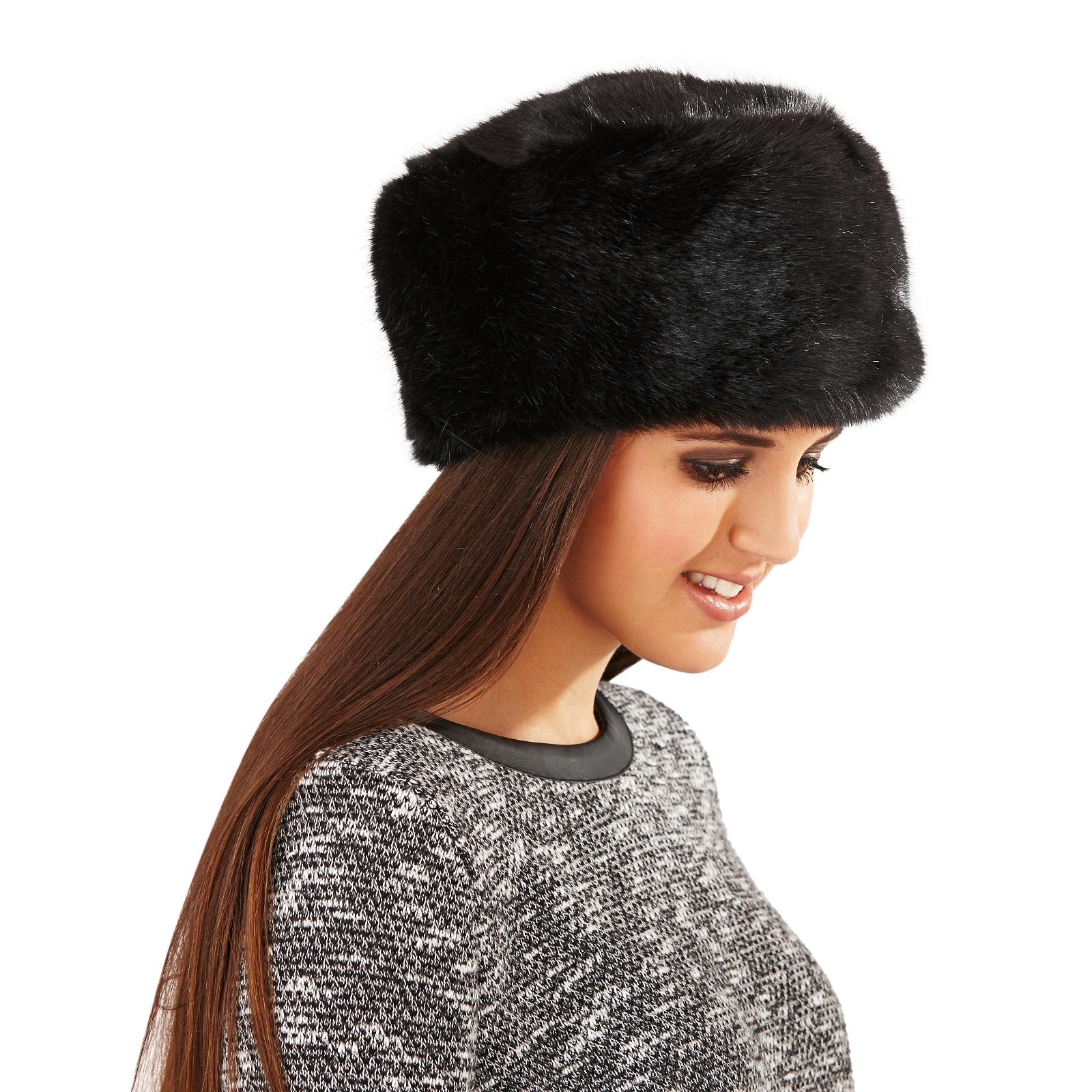 Womens Ladies Luxury Faux Fur Russian Cossack Style Hat ...