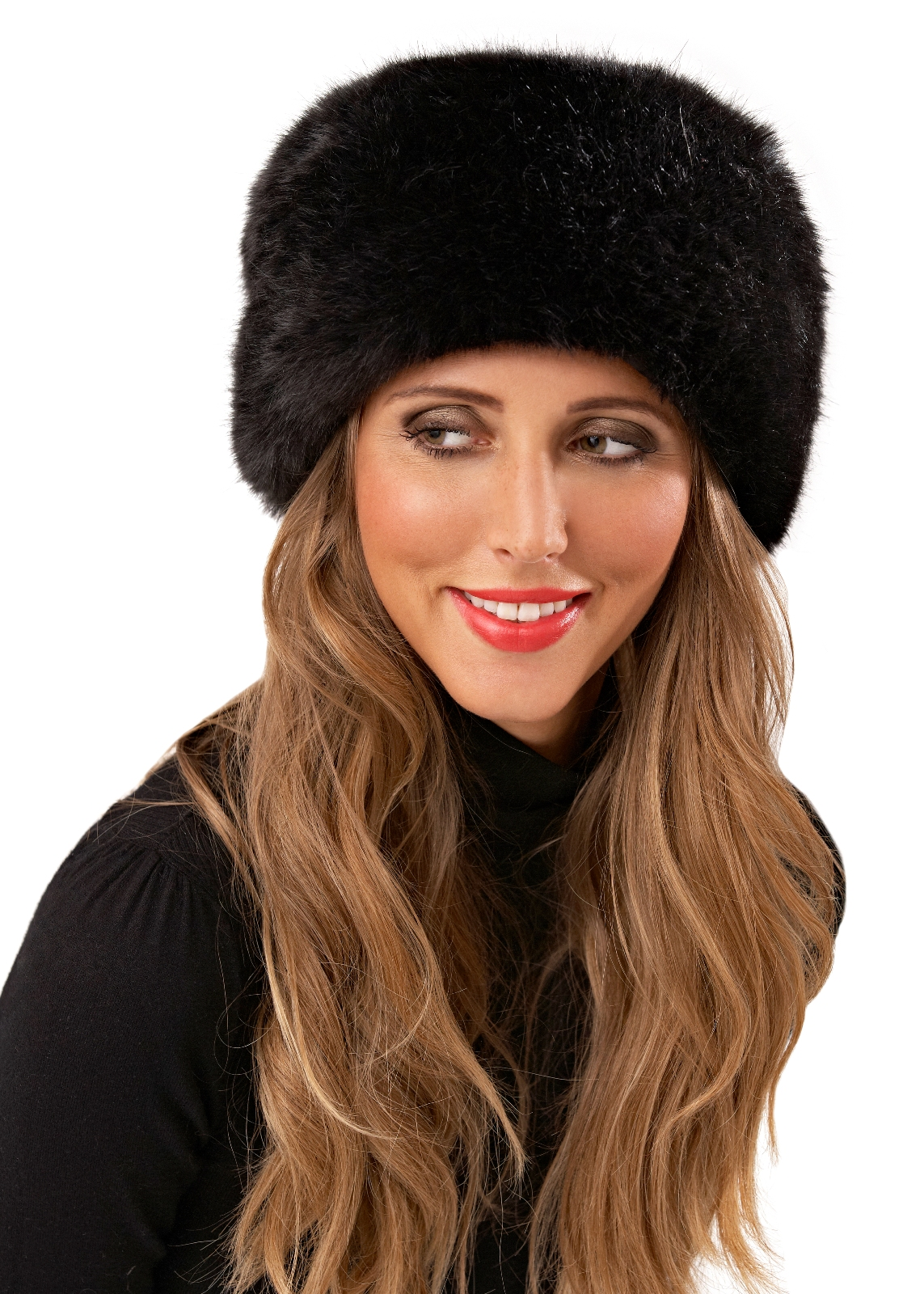 womens ladies luxury faux fur russian cossack style hat warm winter girls 1 size ebay. Black Bedroom Furniture Sets. Home Design Ideas