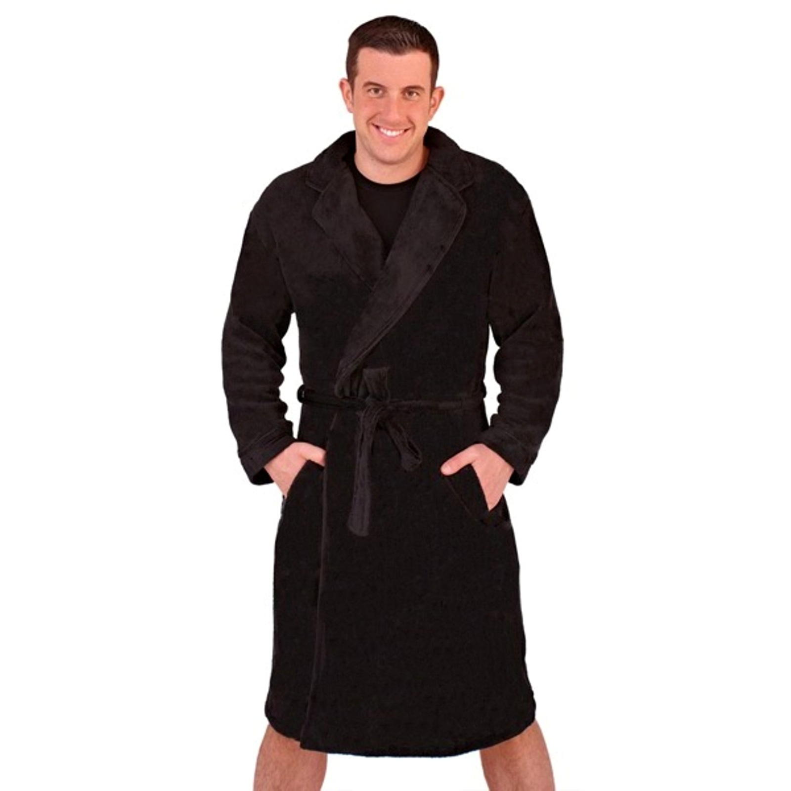 Mens Luxury Dressing Gowns Fleece Bath Robes House Coat ...