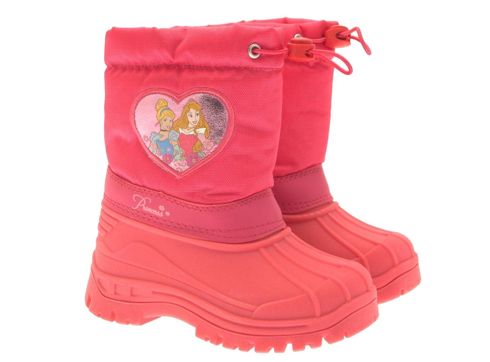 Kids Girls Disney Princess Pink Rain Snow Boots Wellies