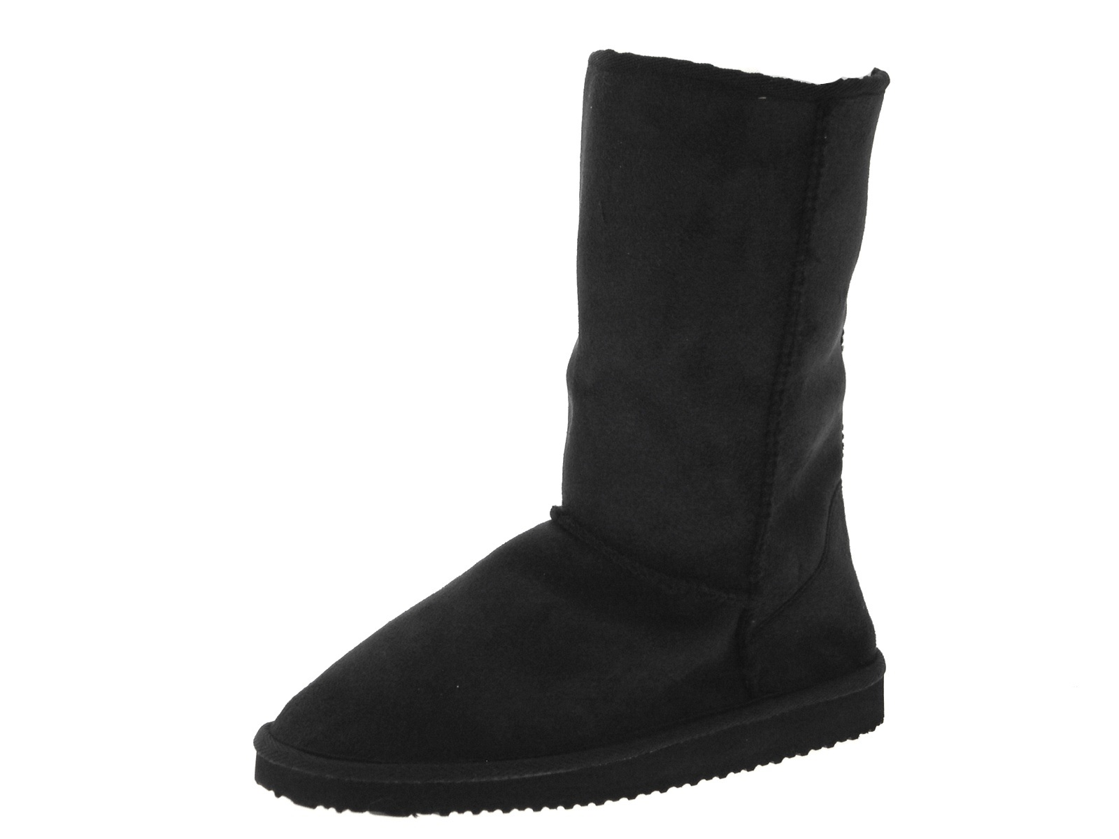 womens faux suede fur lined ankle