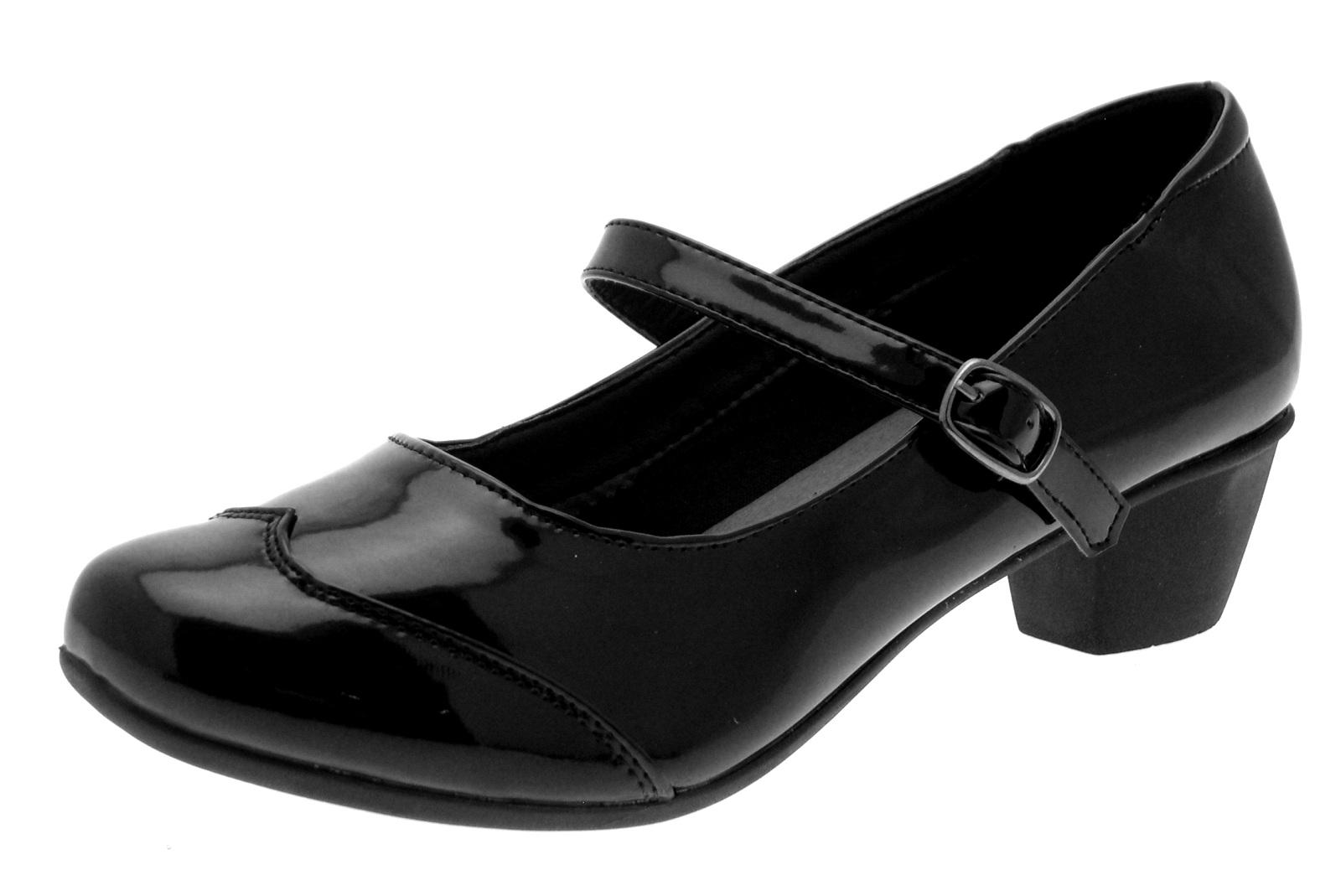 Black T Bar Court Shoes