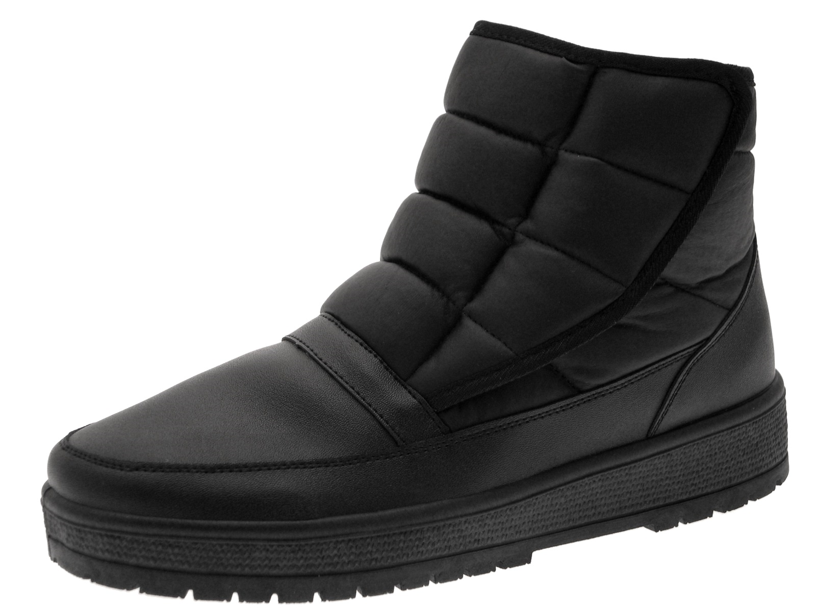 mens faux fur lined warm snow mucker work ankle boots