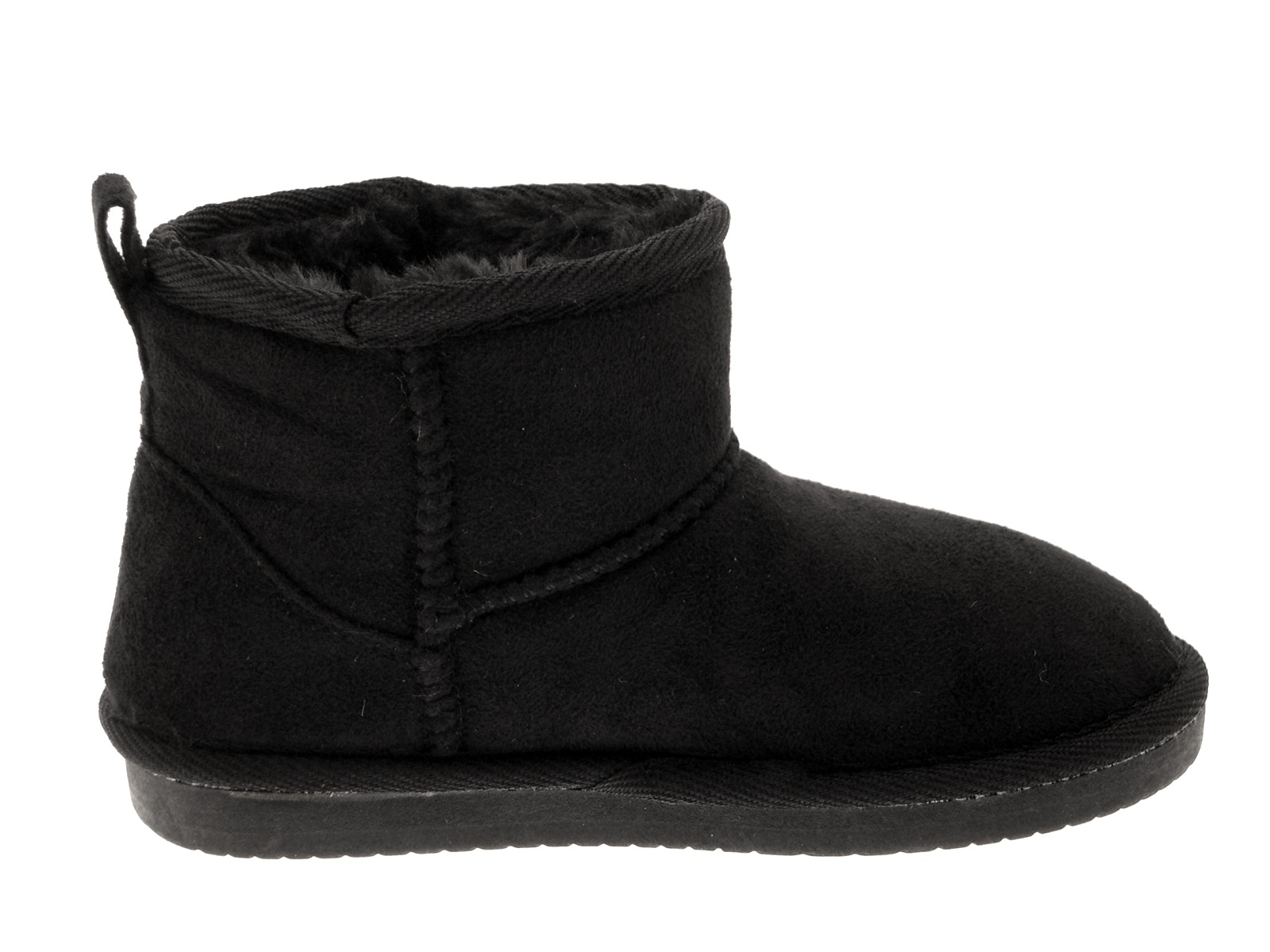 Girls Faux Fur Snugg Ankle Boots Kids Classic Winter Warm Low Heel Lined Shoes