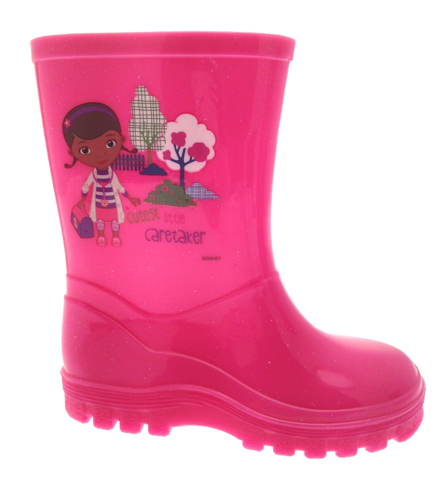 Kids Girls Disney Doc McStuffins Wellington Boots Wellies