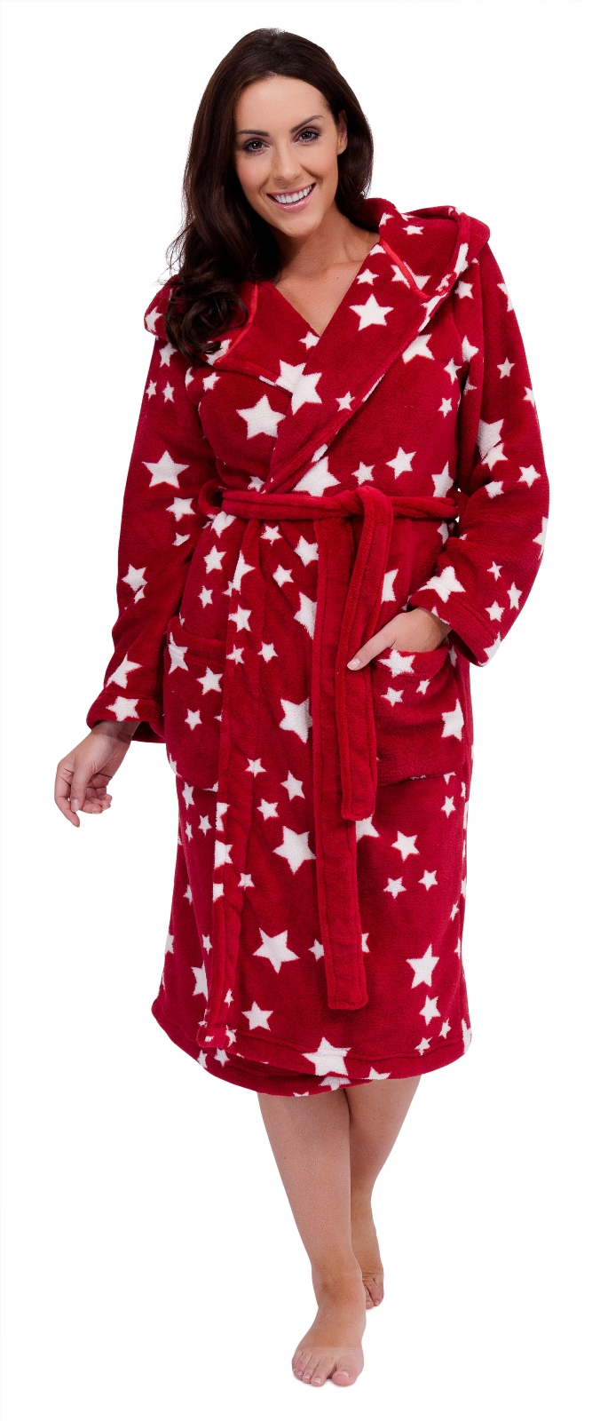 Womens Luxury Soft Fleece Long Robes Dressing Gown Housecoat Ladies ...