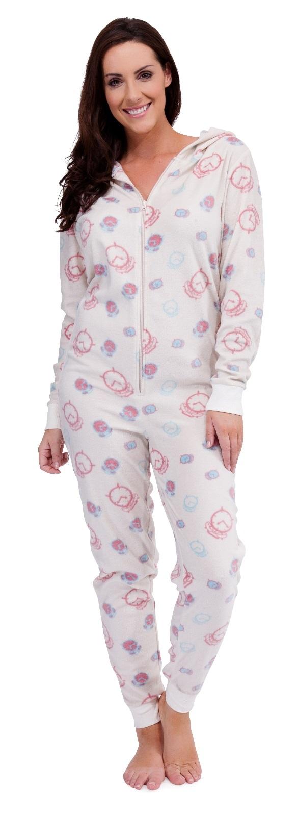 Luxury New Ladies Womens All In ONE Onesie Hooded ZIP UP Jumpsuit Playsuit UK Tracksuit | EBay