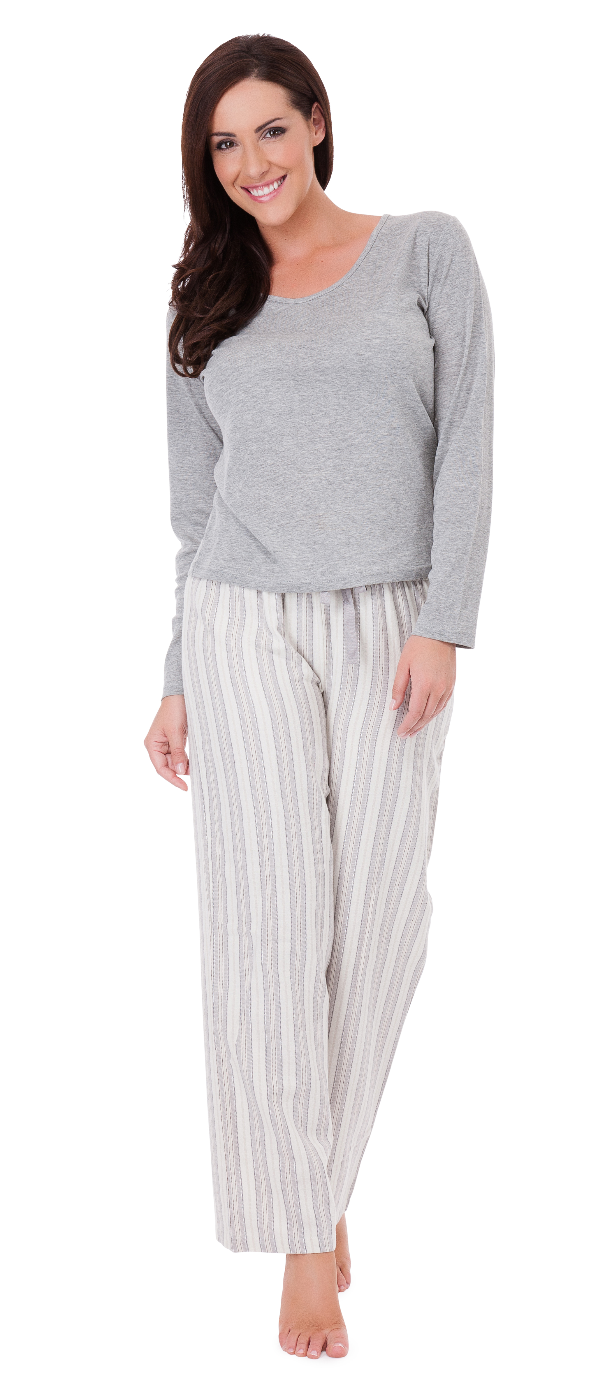 Pajamas may today refer to women's combination daywear, especially in the US where they became popular in the early twentieth century, consisting of short-sleeved .