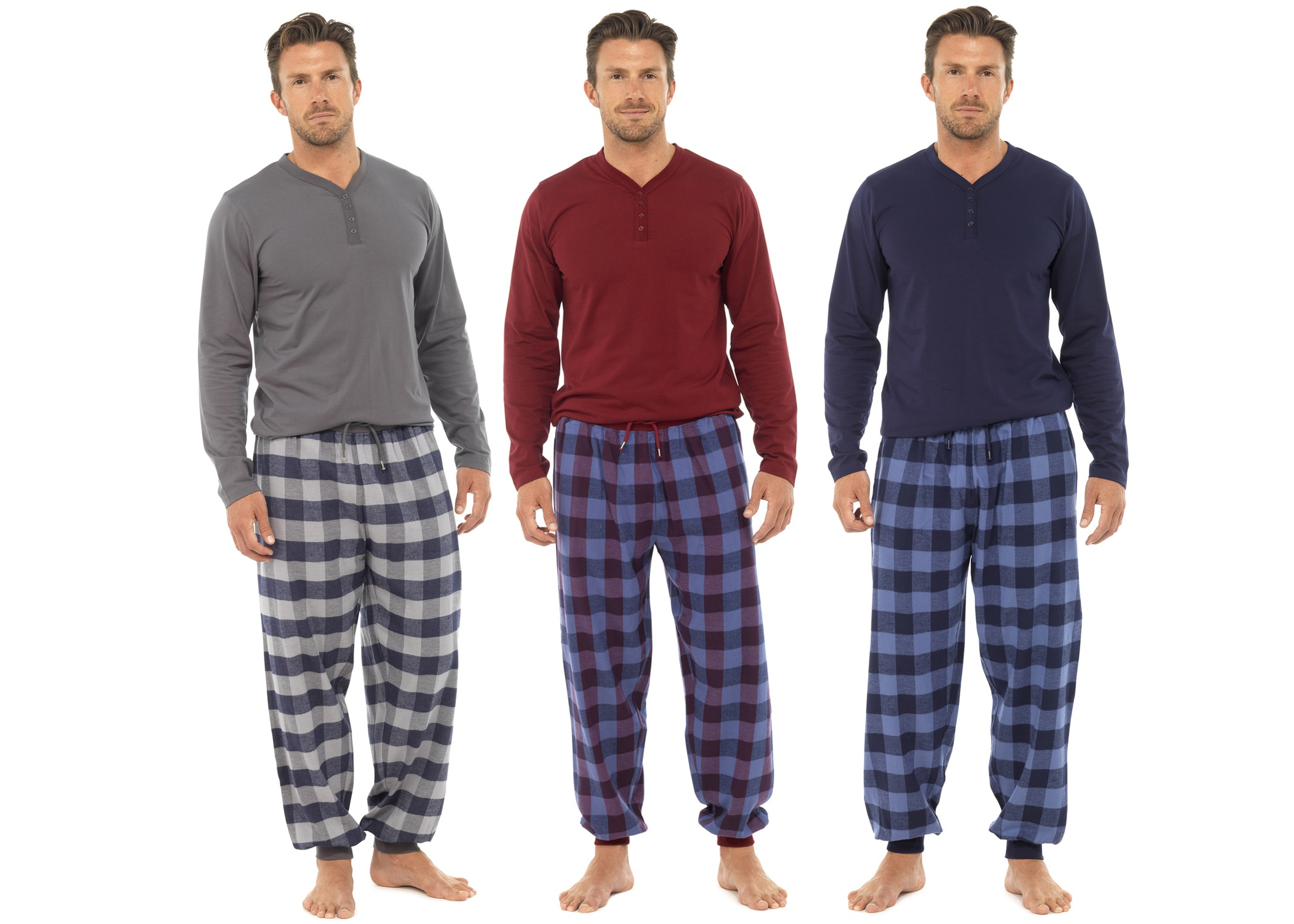 Men's Pajamas, Sleepwear & Loungewear. Your nighttime routine just got a whole lot more comfortable. With pajamas and robes that fit and feel like a dream, you'll sleep better than you ever have before.