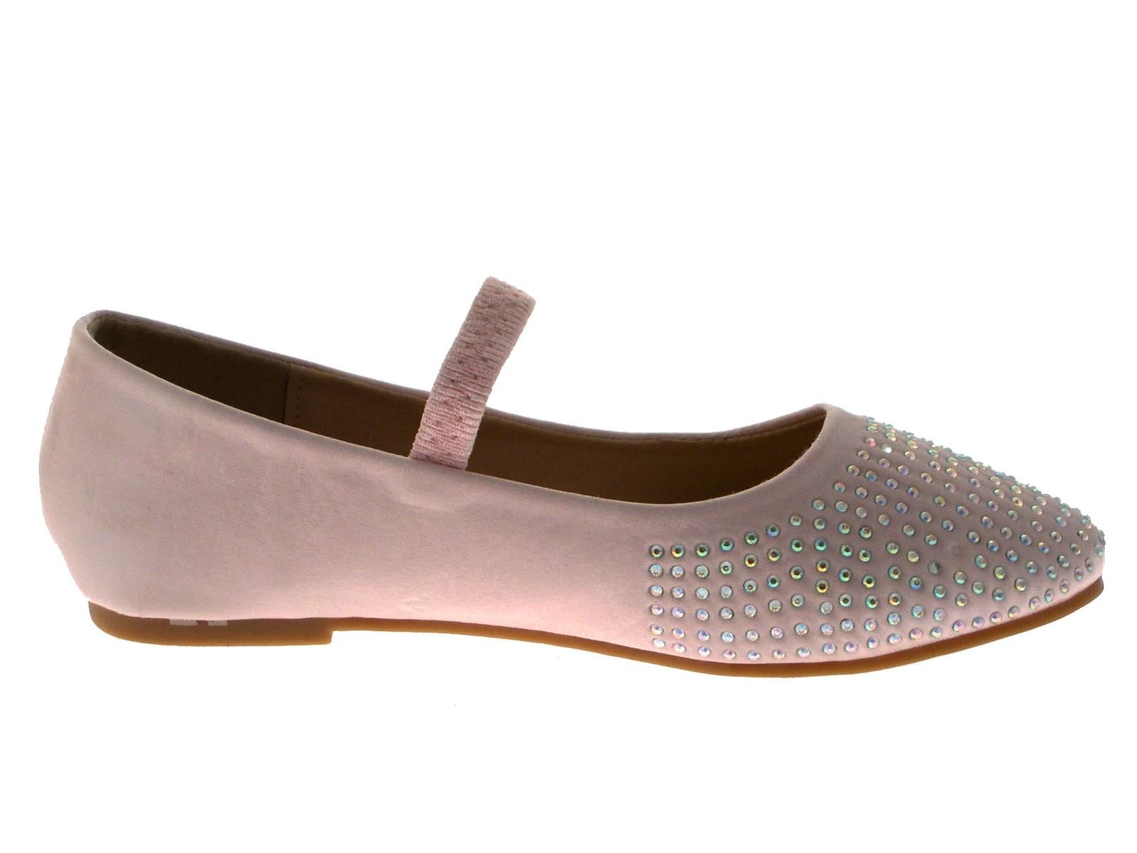 Girls Kids Satin Diamante Ballet Pumps Childrens Flat Party Shoes Size UK 12-2.5 | EBay